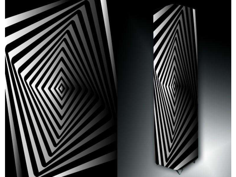 Ledlamp 196, Abstract, Zwart, Wit