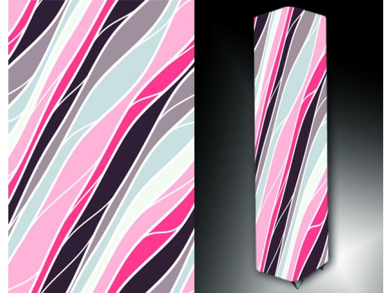 Ledlamp 197, Abstract, Roze, Blauw, Wit
