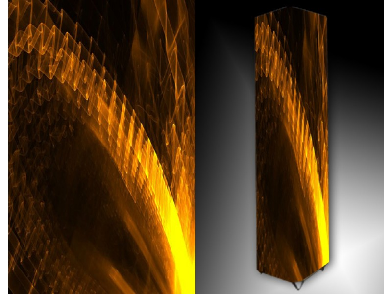 Ledlamp 22, Abstract, Geel, Bruin