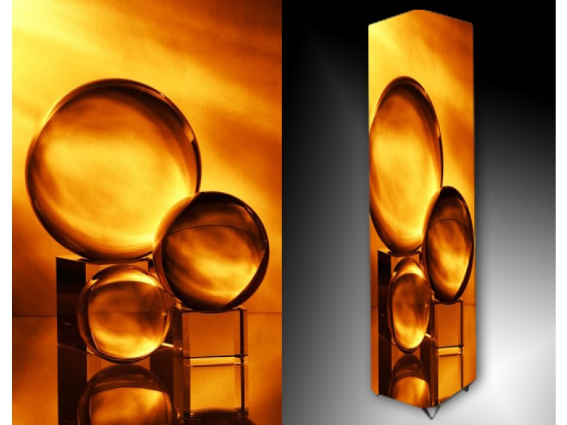 Ledlamp 35, Abstract, Geel, Oranje, Bruin