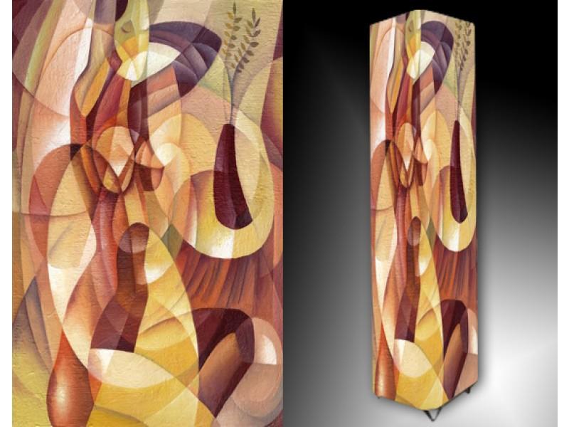Ledlamp 40, Abstract, Paars, Geel, Rood