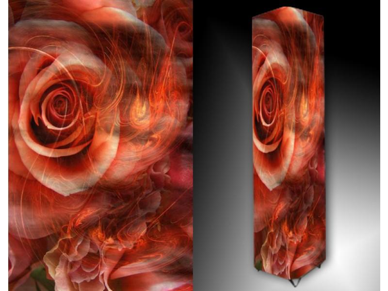 Ledlamp 42, Abstract, Rood, Roze