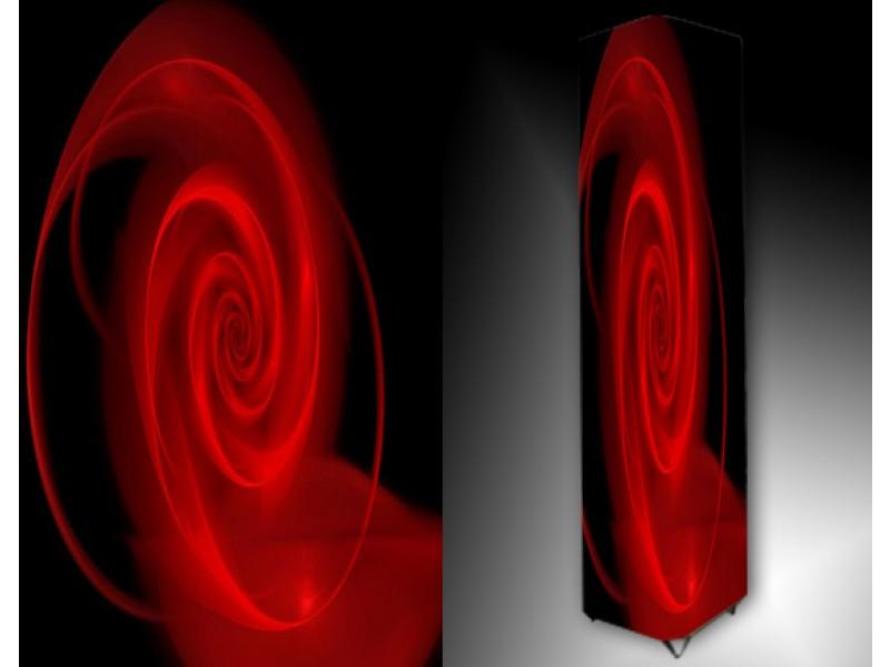 Ledlamp 54, Abstract, Rood, Zwart
