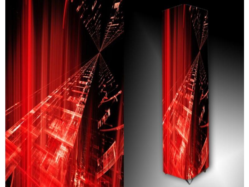 Ledlamp 58, Abstract, Rood, Zwart