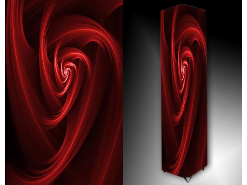 Ledlamp 60, Abstract, Rood, Zwart
