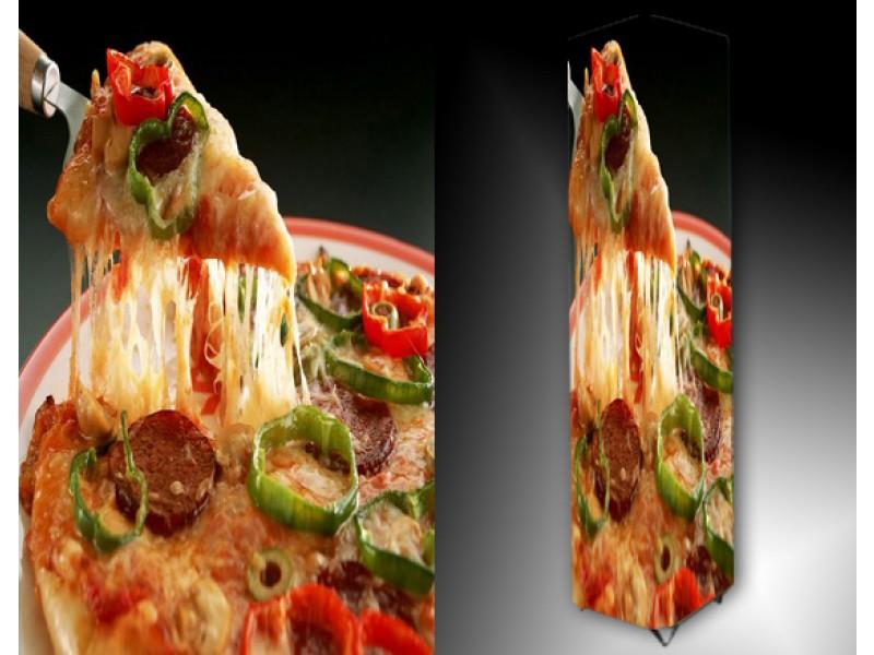 Ledlamp 632, Pizza, Rood, Grijs, Groen