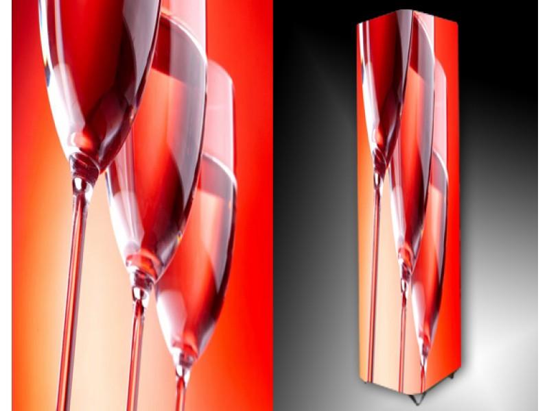 Ledlamp 635, Glazen, Rood, Oranje