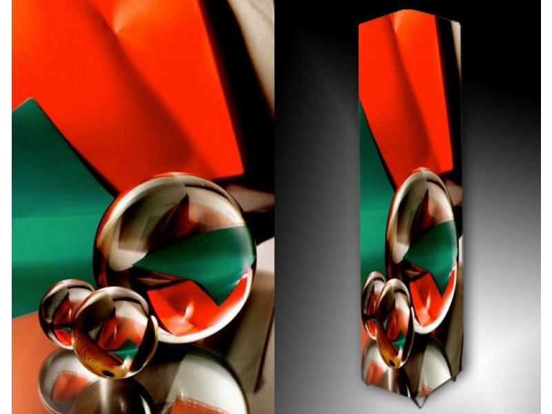 Ledlamp 64, Abstract, Rood, Groen, Grijs