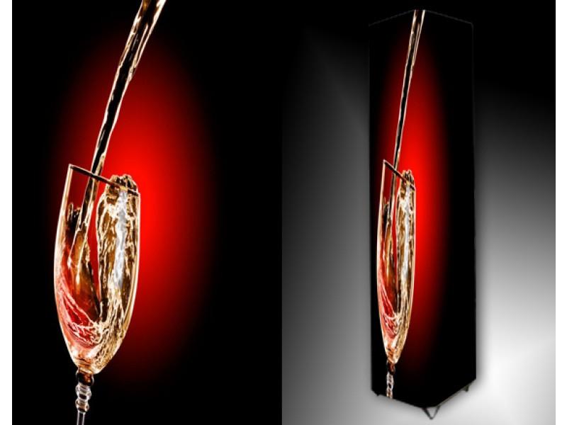 Ledlamp 640, Wijnglas, Rood, Bruin, Wit