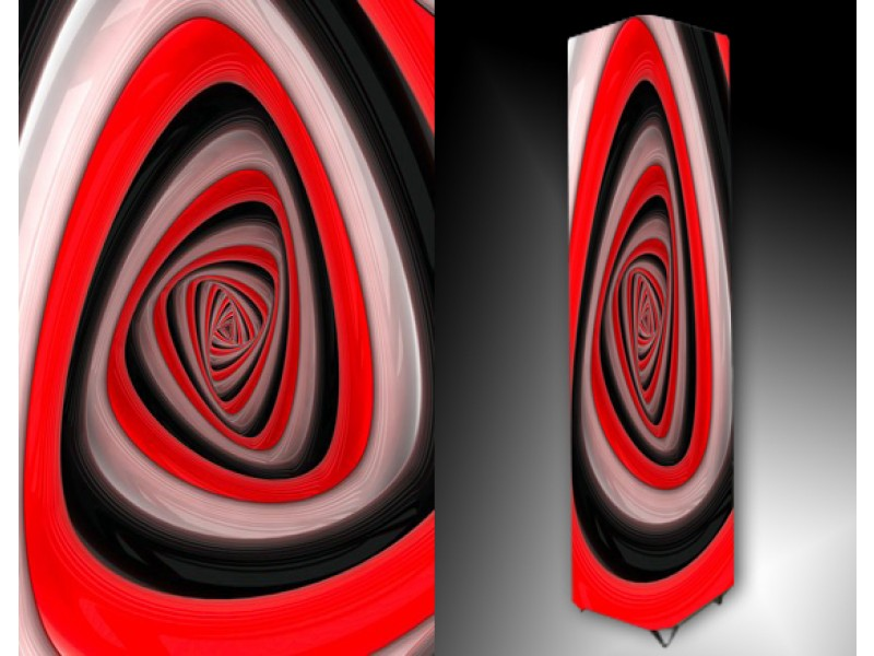 Ledlamp 66, Abstract, Rood, Zwart, Grijs