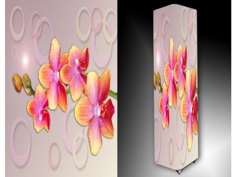 Ledlamp 712, Orchidee, Roze, Oranje, Grijs