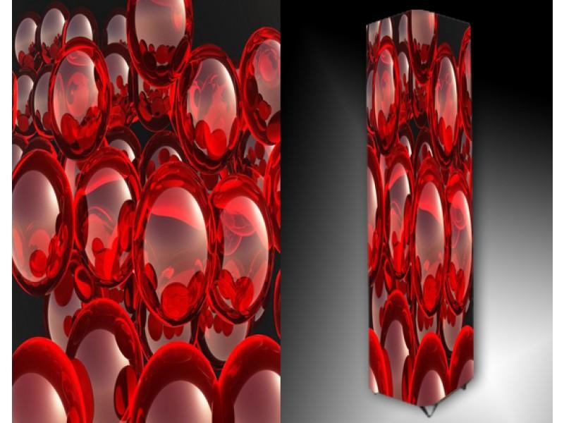 Ledlamp 72, Abstract, Rood, Grijs