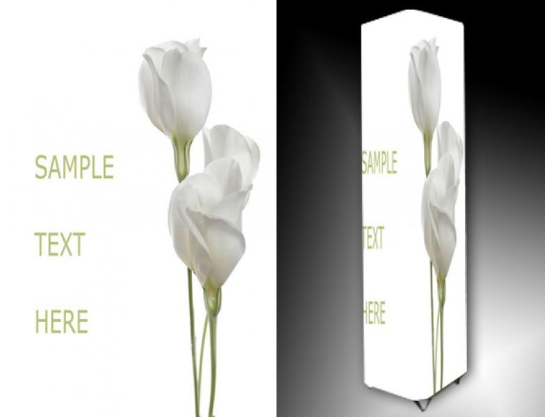Ledlamp 796, Bloem, Wit, Groen