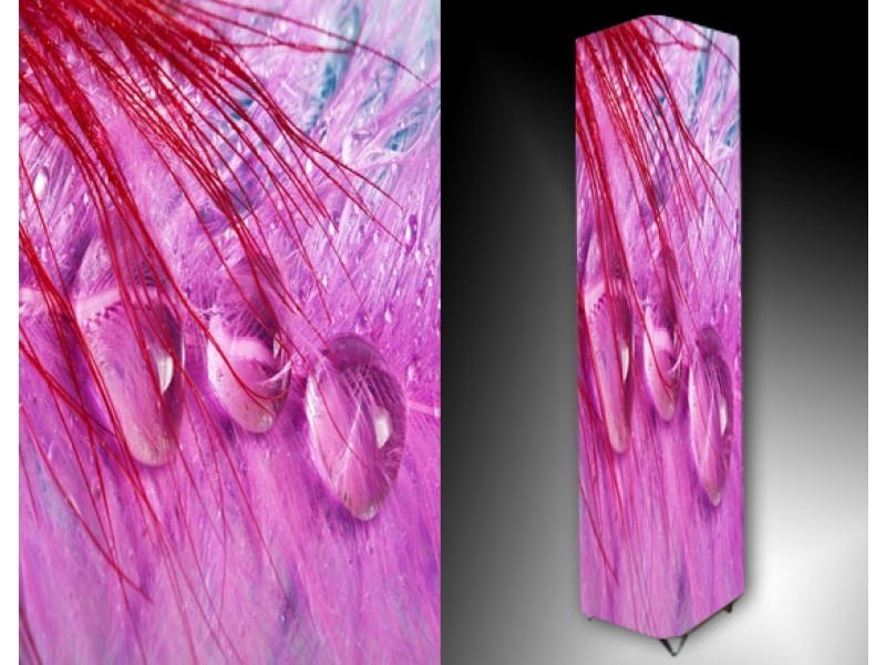 Ledlamp 80, Abstract, Rood, Roze