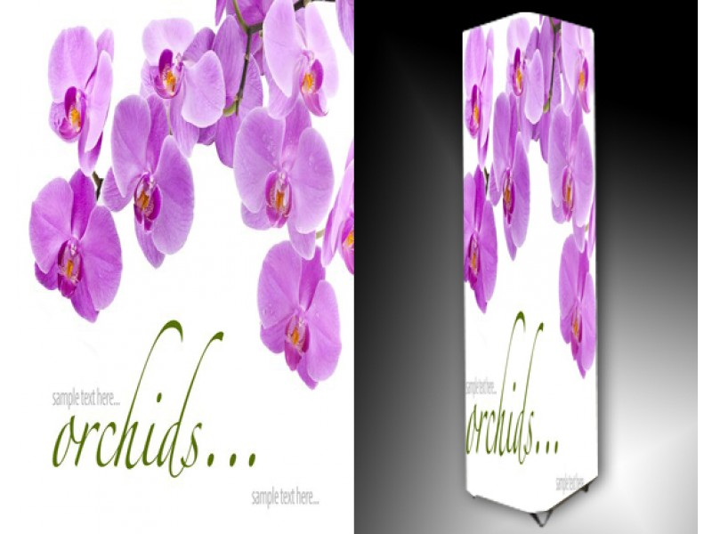 Ledlamp 813, Orchidee, Paars, Wit
