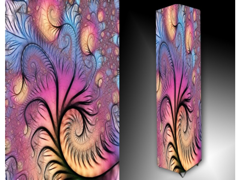 Ledlamp 89, Abstract, Roze, Blauw, Creme