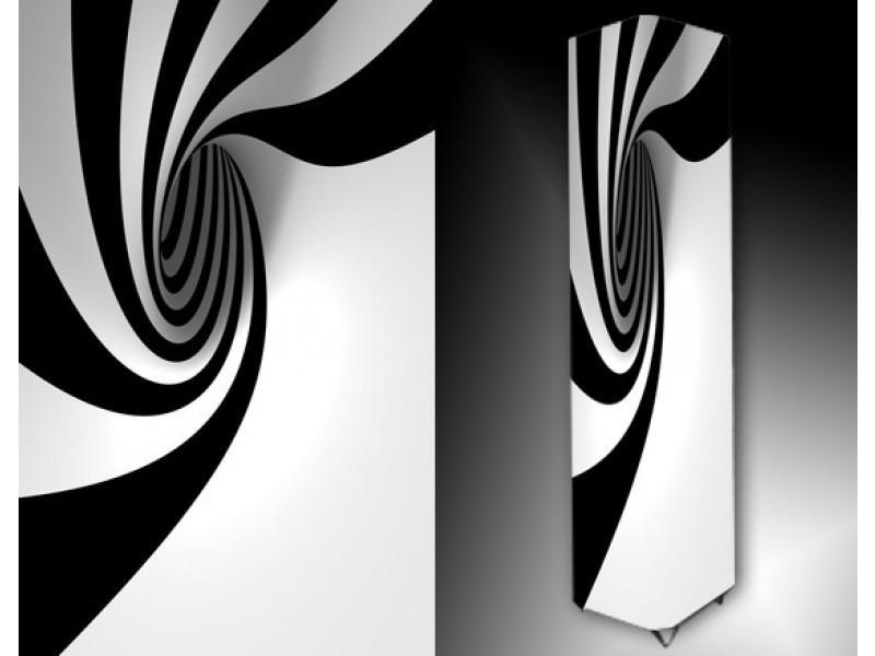 Ledlamp 9, Abstract, Zwart, Wit