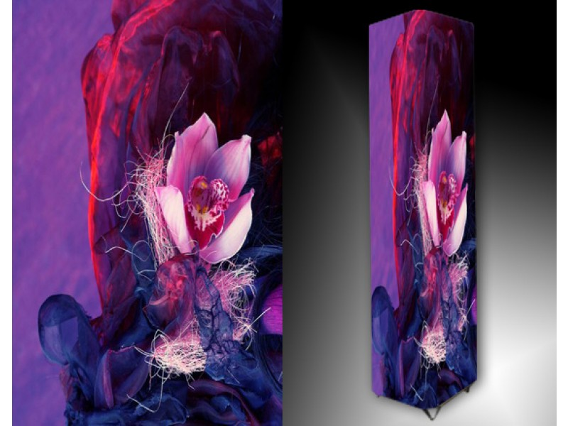 Ledlamp 91, Abstract, Blauw, Roze, Paars