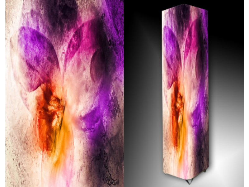 Ledlamp 95, Abstract, Oranje, Paars, Roze