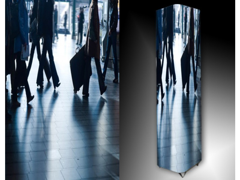 Ledlamp 97, Abstract, Blauw, Grijs