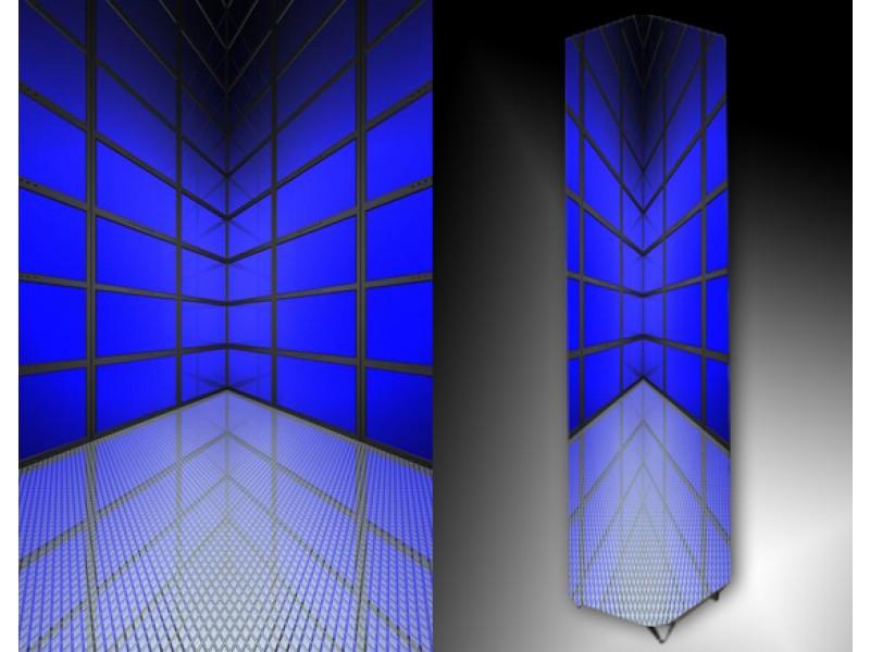 Ledlamp 98, Abstract, Blauw, Grijs