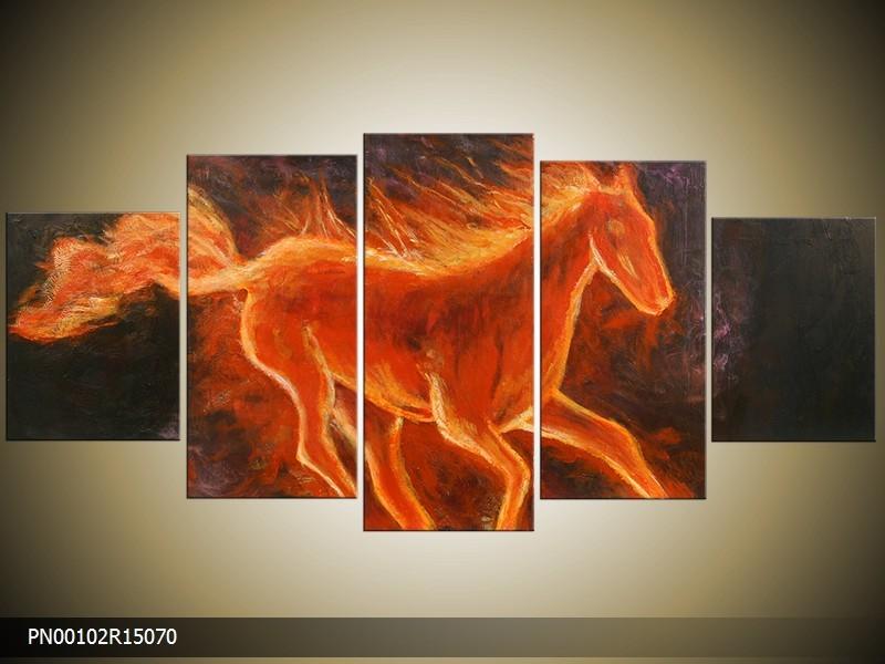Acrylverf schilderij Paard | Kleur: Oranje | PN00102