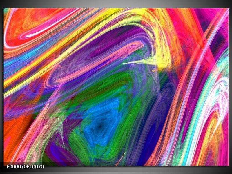 Glas schilderij Kleurrijk   Groen, Paars, Geel