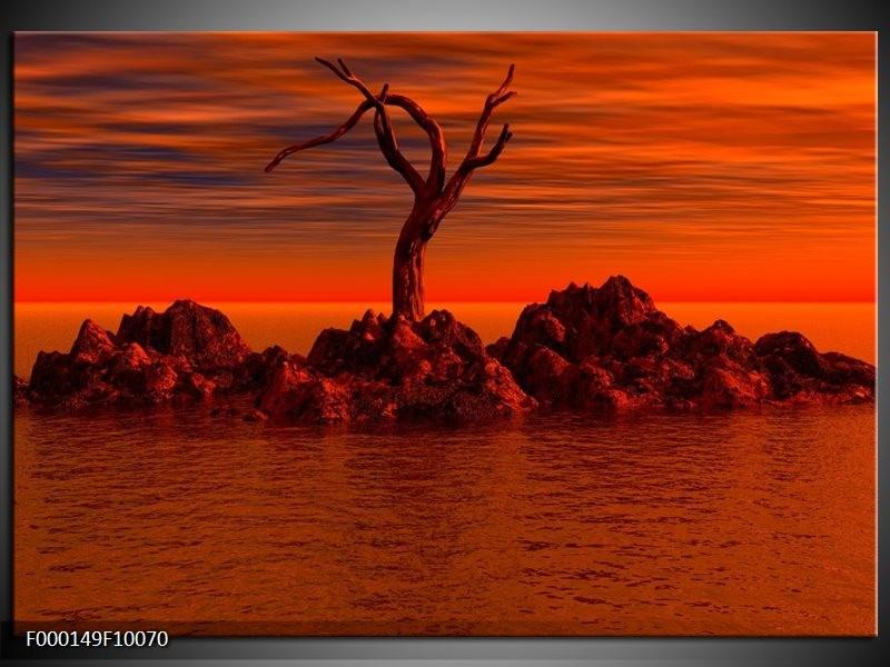 Glas schilderij Stenen | Rood, Zwart