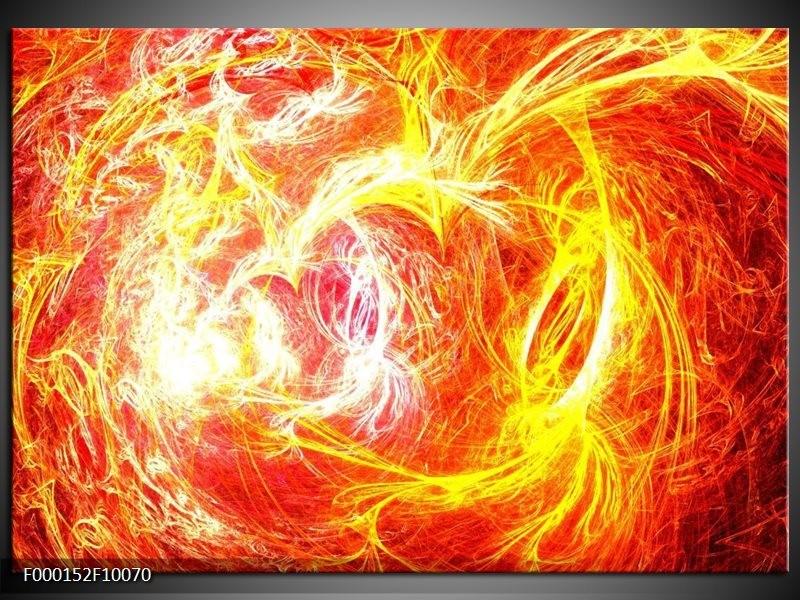 Glas schilderij Vuur | Geel, Oranje, Rood