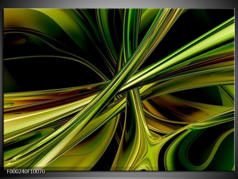 Glas schilderij Abstract | Groen, Zwart, Geel