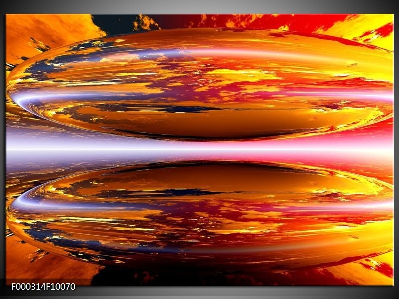 Glas schilderij Abstract | Geel, Oranje, Rood