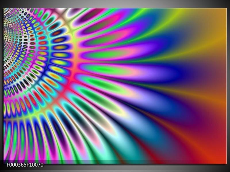 Glas schilderij Abstract | Paars, Blauw, Groen