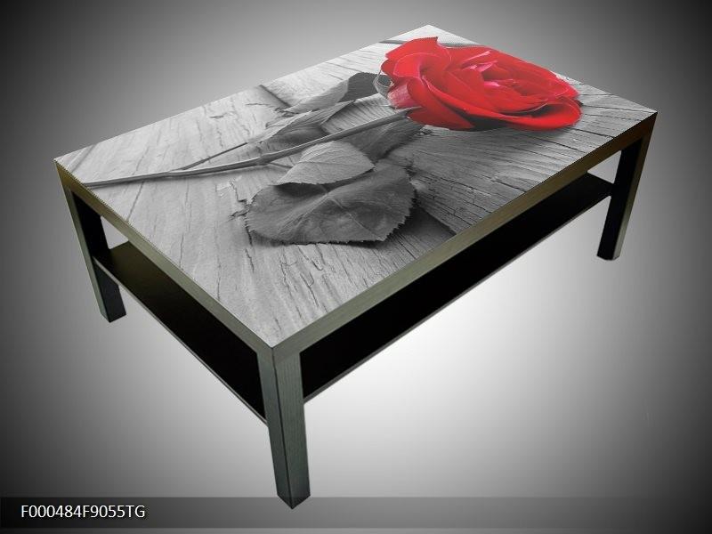 Salontafel  glas 117x78cm roos (Showroommodel)