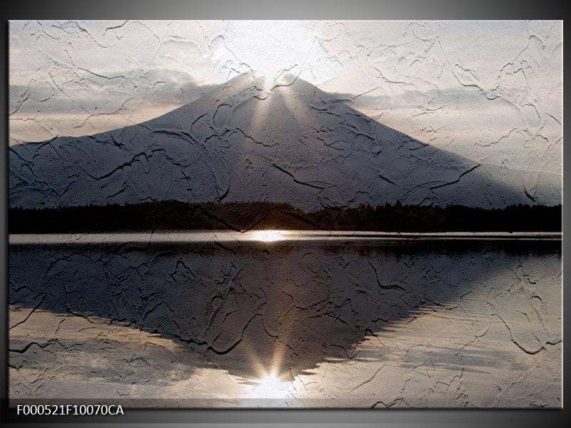 OP VOORRAAD Canvas art schilderij Zonsondergang | 100x70CA| F000521CA
