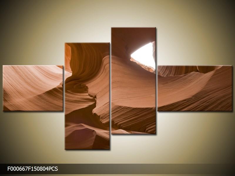 OP VOORRAAD Foto canvas schilderij Zand | 150x80cm 4pcs | F000667