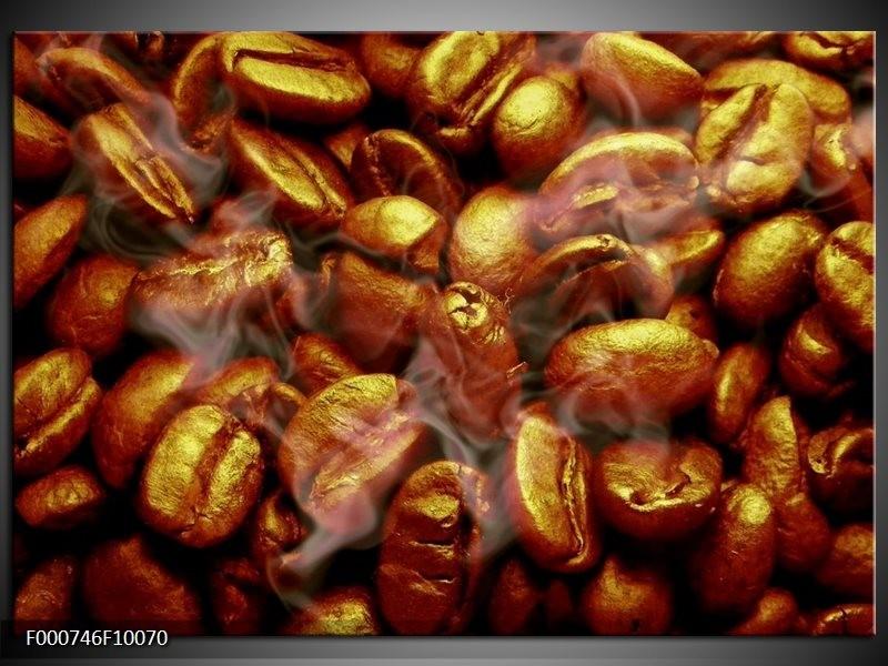 Glas schilderij Koffie   Bruin, Zwart, Wit