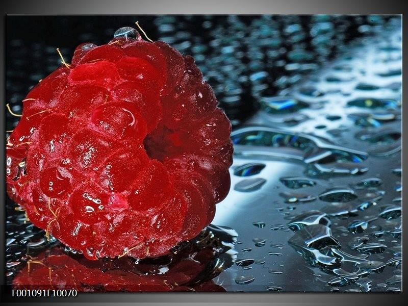 Glas schilderij Fruit | Rood, Grijs, Wit