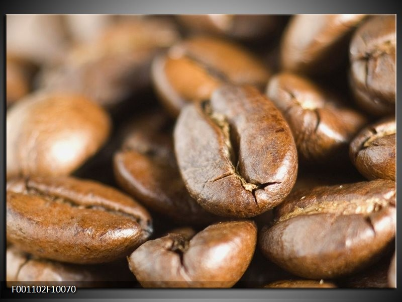 Glas schilderij Koffie | Bruin, Wit