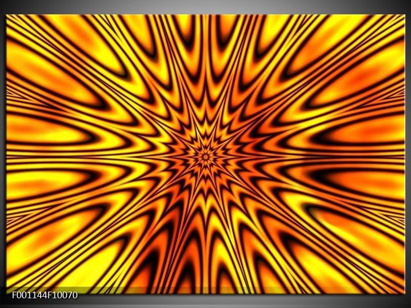 Glas schilderij Abstract | Geel, Bruin