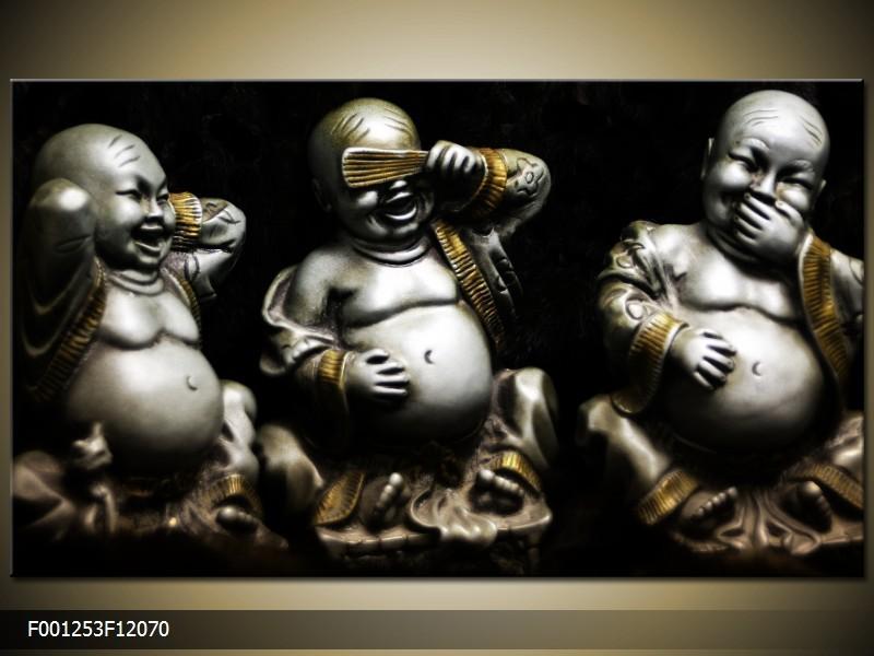 OP VOORRAAD Foto canvas schilderij Boeddha   120x70   F001253