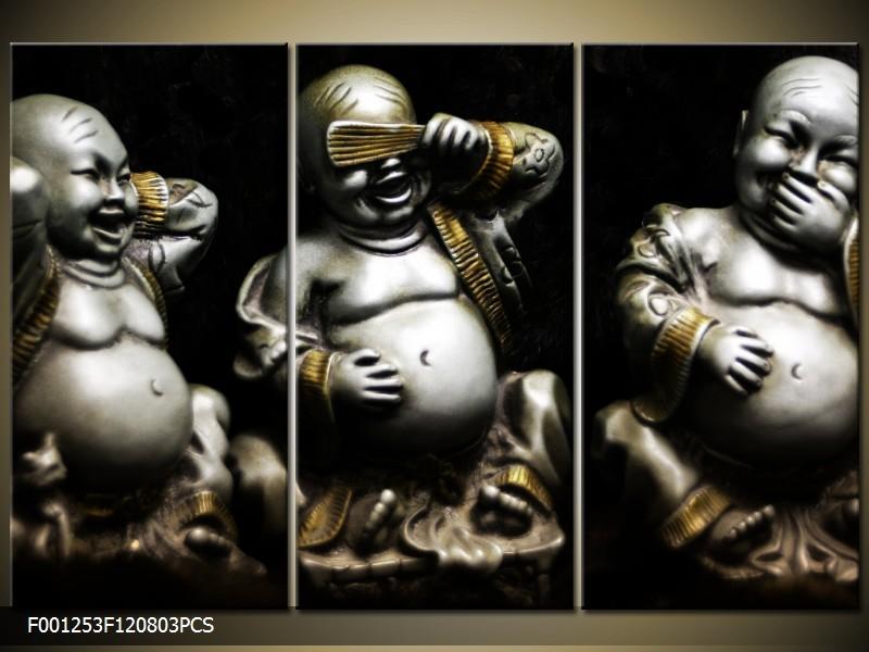 OP VOORRAAD Foto canvas schilderij Boeddha |120X80cm 3pcs| F001253
