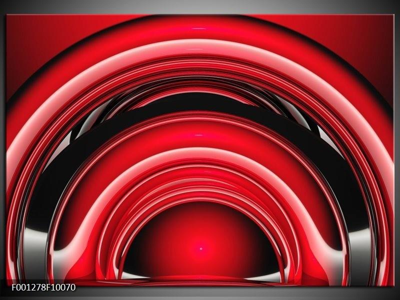 Glas schilderij Abstract | Rood, Zwart, Wit
