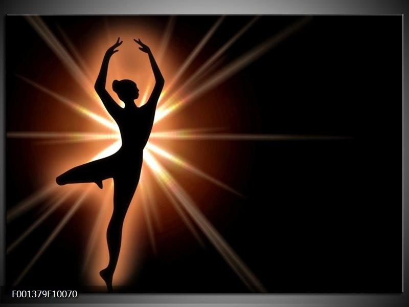 Glas schilderij Dansen | Zwart, Wit