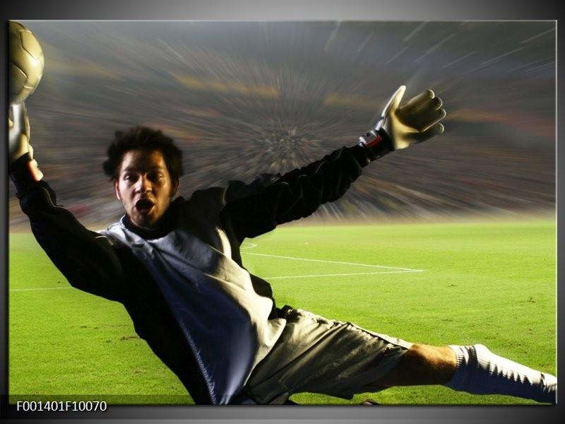 Foto canvas schilderij Sport | Groen, Grijs, Zwart