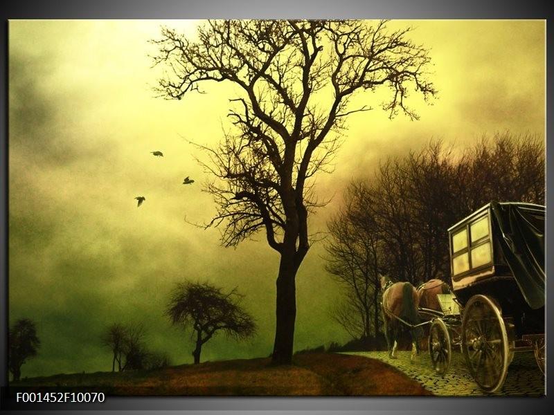 Glas schilderij natuur groen bruin groepart for Schilderij natuur