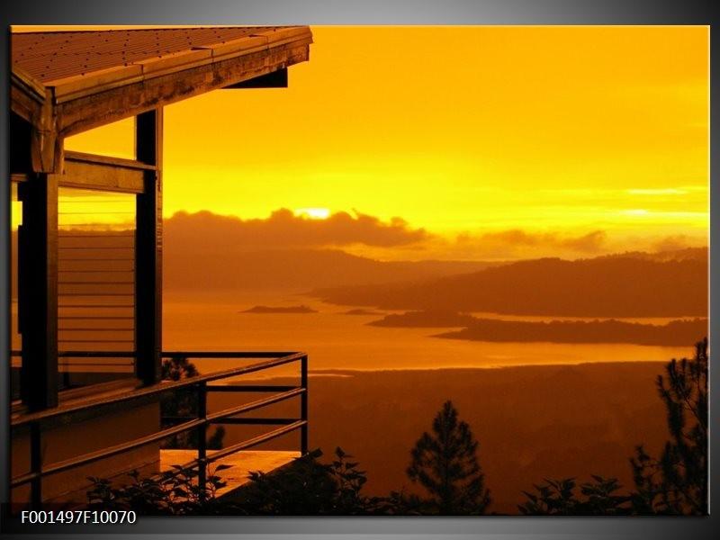Glas schilderij Natuur | Geel, Oranje, Bruin
