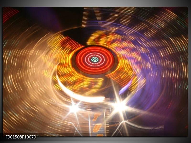 Foto canvas schilderij CD | Geel, Paars, Rood