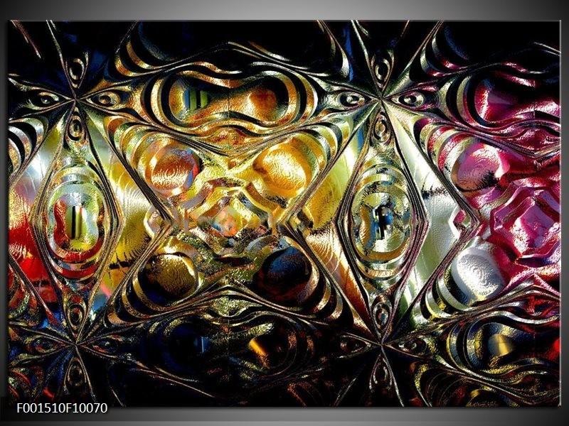 Foto canvas schilderij Glas   Paars, Oranje, Zwart