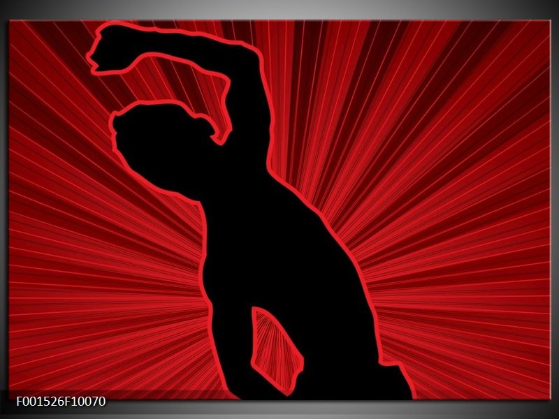 Foto canvas schilderij Dansen | Rood, Zwart,