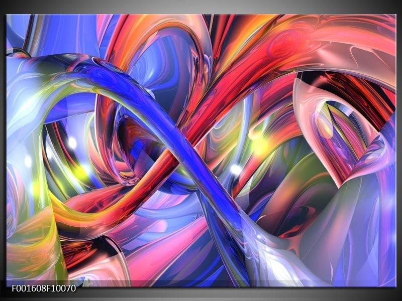 Foto canvas schilderij Abstract | Paars, Rood, Geel